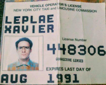 Xav Leplae's NYC Taxi License