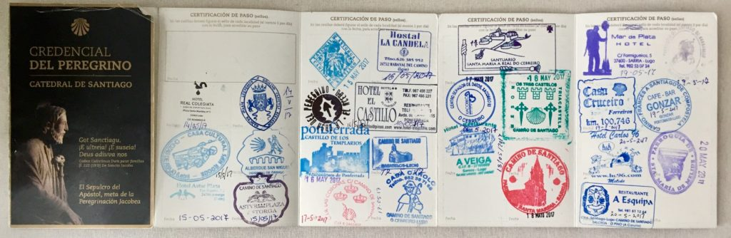 santiago-passport-credencial-cover-with-stamps-inside